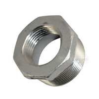 """1 1/2"""" Male x 1"""" female Stainless Steel threaded Reducer Bushing Pipe Fitting"""