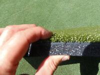 """12 x 24 Commercial Duffer™ Golf Mat  1.25"""" Thick Hitting Strip + Adj Matt Tee"""