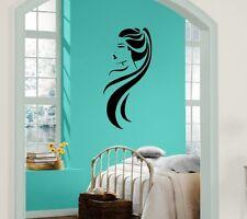 Hot Girl Ponytail Long Hair Beauty Salon Decor Wall Mural Vinyl Sticker Art M157