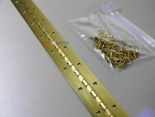 Continuous Piano Hinge 36 X 1.5  Brass (With Screws)