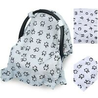 Infant Stroller Pram Car Seat Cover Blanket Breathable Muslin Sun Shade Canopy