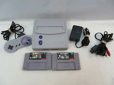 Super Nintendo SNES System Console Bundle with Games