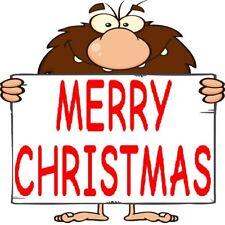 30 Custom Merry Christmas Caveman Personalized Address Labels