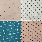 Bird Pattern Cotton Dressmaking Fabric Crafting 42 Inch Supply By The Metre