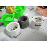 Flower Pot Silicone Molds DIY Garden Planter Cement Concrete Vase Soap New