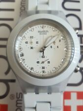 Swatch Full Blooded White SVCK4045AG 2010 Irony Diaphane 43mm Aluminum