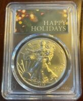 2020 Happy Holidays American Silver Eagle PCGS MS 70