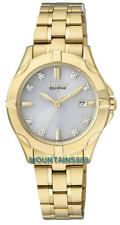 Citizen Eco-Drive Watch, 8 Diamonds, GoldTone, WR100, Date, Ladies, EW1932-54A