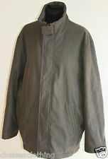 ZARA Jacket Khaki Green Coat Grey Zip-Up Large Shower-Proof Funnel-Neck/Collar