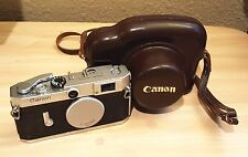 Vintage / Antique Canon Camera  Model 610145 W/ Leather Carrying Case