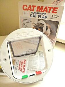 BRAND NEW Model 210W Pet Mate GLASS/Wood/Plastic Fitting CAT Flap 4 Way Lock