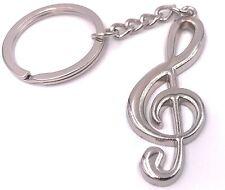 Heimwerker 2 Pcs Edelstahl Metall Violinschlüssel Musical Symbol Schlüssel Ring Schlüssel Kette Geschenk