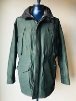 Woolrich Green Winter Jacket Coat Mens Size Large Long