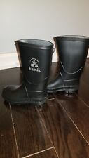 Toddler 9 Kamik Rain Boots Black