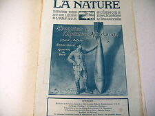 revue LA NATURE science industrie n° 2328 - 1918 guerre bombes aviation allemand