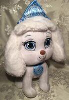 "Disney Princess Palace Pets Cinderella Dog Plush Pumpkin 10"" White Blue Bow"