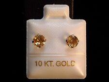 Feinste Citrin Ohrstecker - 0,80 ct. - 10 Kt. Weiß Gold - 417 - Brillant Schliff