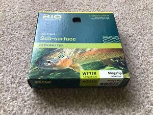 Rio Sub Surface WF#7 MidgeTip Fly Line River Reservoir Top Quality Was £60 VGC