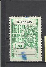 2155-SELLO FISCAL DERECHO OBVENCIONAL ADUANAS 1 PTA USADO