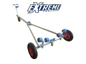 New Extreme Launching Launcher 3 Boat Rib Dinghy Trolley Puncture Proof