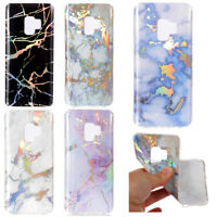 For Samsung S5 S6 S7 S8 S9 plus Colorful Bling Marble Skin Soft TPU Case Cover