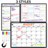 A3 Magnetic Whiteboard Fridge Calendar Planner Dry Erase M&W