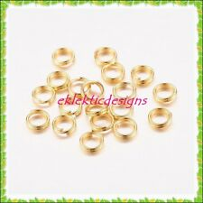 5mm 100pcs Gold Plated Split Dbl Jump Rings Jewelry Findings Earrings Necklace