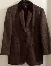 Breeches Ladies Wool Jacket Size 8 Alpaca Wool Blend Brown Herringbone Pattern