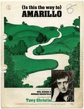 Tony Christie (Is This The Way to) Amarillo 1971 Sheet Music