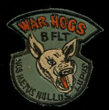 USAF 7th Security Police SQ B Flight War Hogs Kunsan Korea Patch RP-2