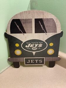 """FAN CREATIONS NFL NEW YORK JETS 12"""" Wooden Team Bus Sign"""