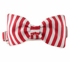 Candy Cane Stripe Bow Tie Dog Collar