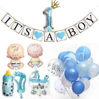 Baby Shower Decor It's A Boy Blue Banner Gender Reveal 1st Birthday Party Decor