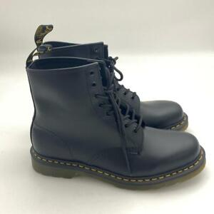Dr. Martens Men's 1460 8-Eye boot Black Nappa Leather Lace Up US 11