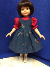 Red Blouse & Denim Jumper For Betsy McCall Or Little Darling