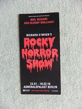Flyer Musical Rocky Horror Show, Berlin Admiralspalast 2018