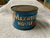 Vintage Unopened With Key Maxwell House 1 Pound Keywind Coffee Can