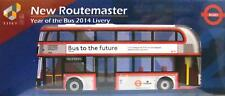 UK2 Tiny New Routemaster Bus to Future 2014 Livery Diecast Mini Model Toy Car