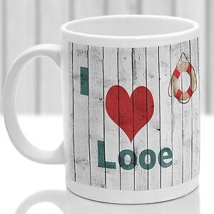 Looe mug, Gift to remember Cornwall, Ideal present,custom design.