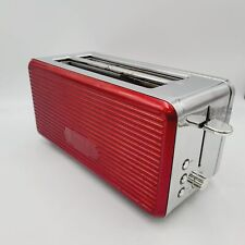 Bella Sensio Chrome Red Retro 4 Slice Toaster Long Slot KT-3261