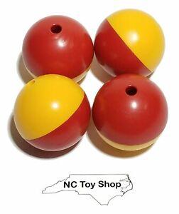 4 KNEX Balls Red Yellow Big Ball Factory Replacement Parts Standard Pieces K'NEX