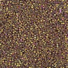 Miyuki Delica Seed Beads Size 11/0 Metallic Earth Batik DB1010 7.2g Tube