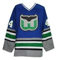 Any Name Number Size Whalers Retro Hockey Jersey Blue Pronger