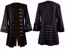 Jack SPARROW Pirates of the Caribbean 5 Johnny Depp Costume Noir Trench Coat