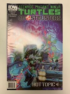 IDW TEENAGE MUTANT NINJA TURTLES/GHOSTBUSTERS #1 HOT TOPIC COVER : NM CONDITION