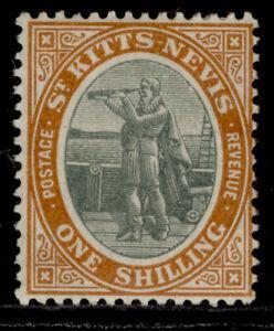 ST KITTS-NEVIS EDVII SG7, 1s grey-green & orange, M MINT.