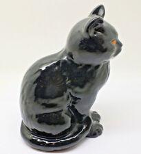Vintage Sylvac black cat 1960s ornamental cat 17 cm in height