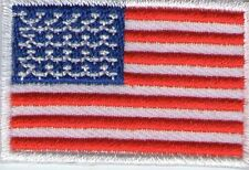 ECUSSON PATCHE PATCH THERMOCOLLANT DRAPEAU ETATS UNIS USA DIMENSIONS 4,5 X 3 CM