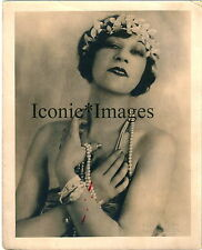 1920's PORTRAIT of FLAPPER/DANCER/GLAMOUR GIRL w/PEARLS-ORPHEUM STUDIO-Original