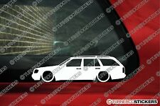 2x LOW 'Mercedes E-Class estate wagon T124 (w124) lowered outline stickers